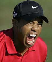 Tiger Woods mad