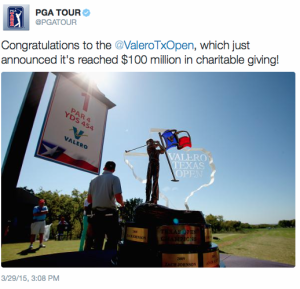 Valero Texas Open $100 Million