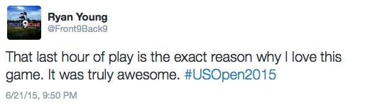 U.S. Open Tweet